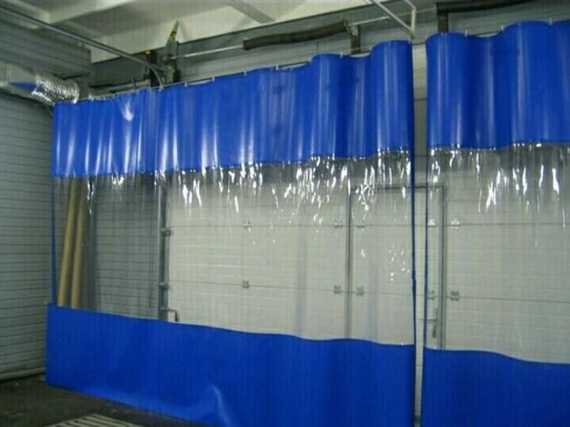 Автомойка мягкие окна с синим кантом