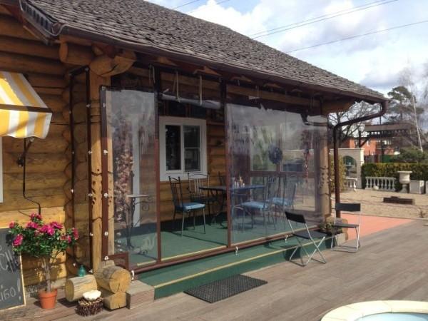 Мягкие окна для кафе и ресторанов стандарт