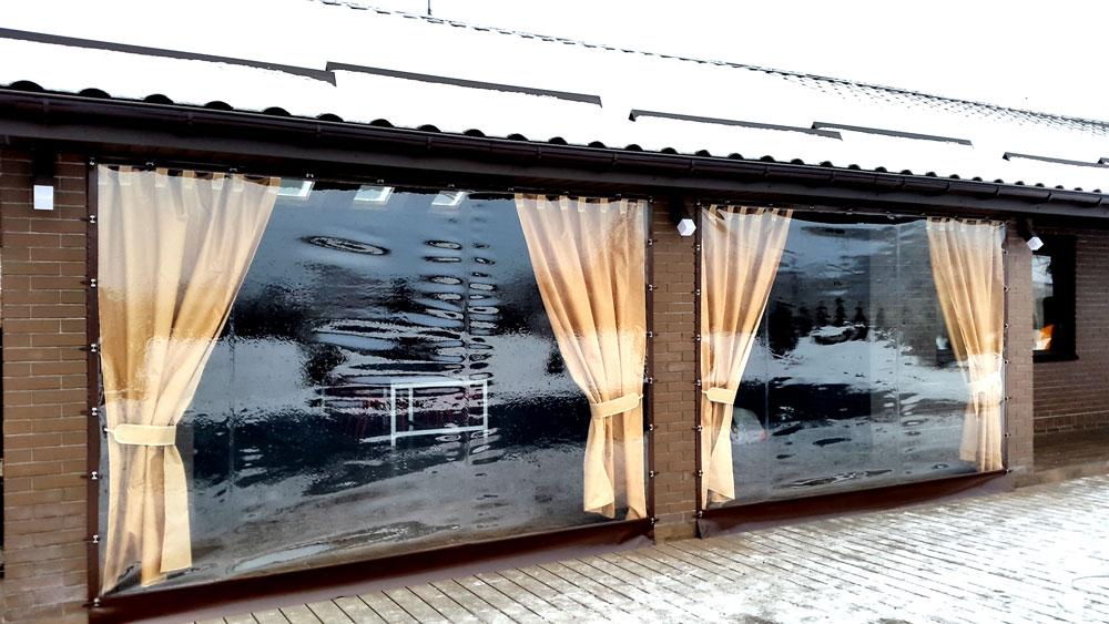 Прозрачные шторы ПВХ