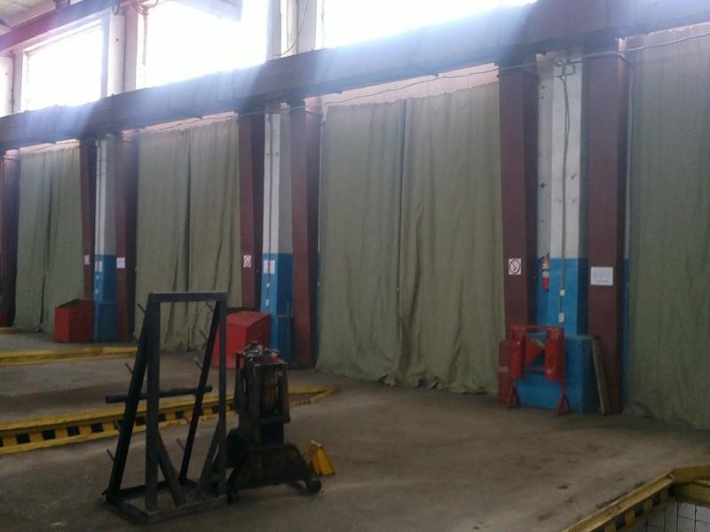 Брезентовые шторы для сварочных работ