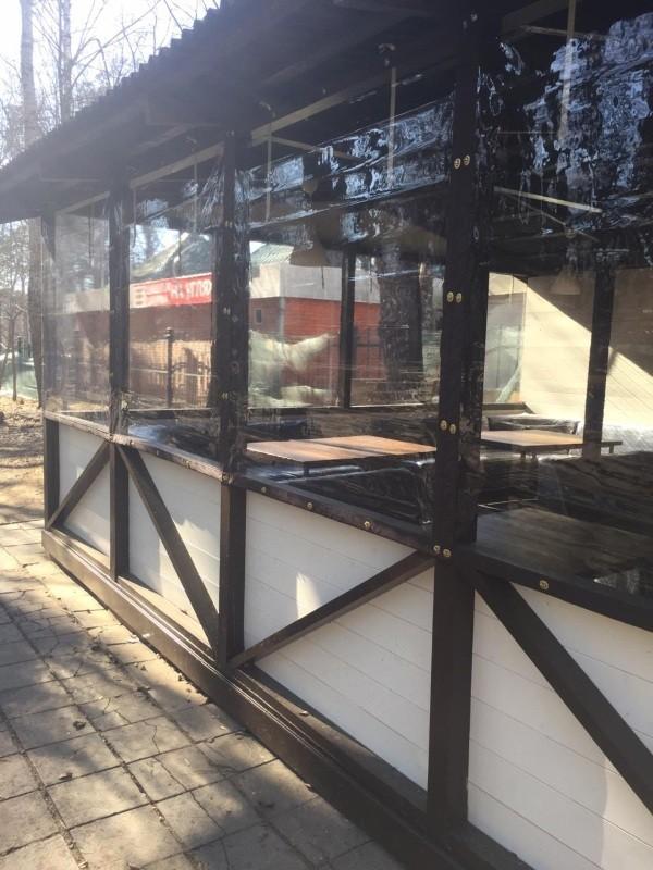 Мягкие окна для кафе и ресторана