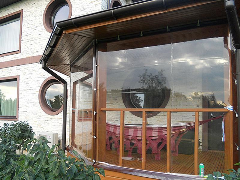 Мягкие окна из ПВХ для террасы