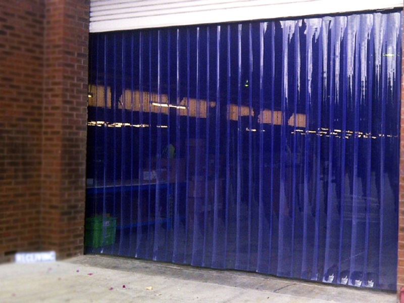 синие полосовые завесы