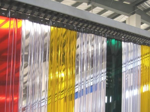 разноцветные эластичные завесы