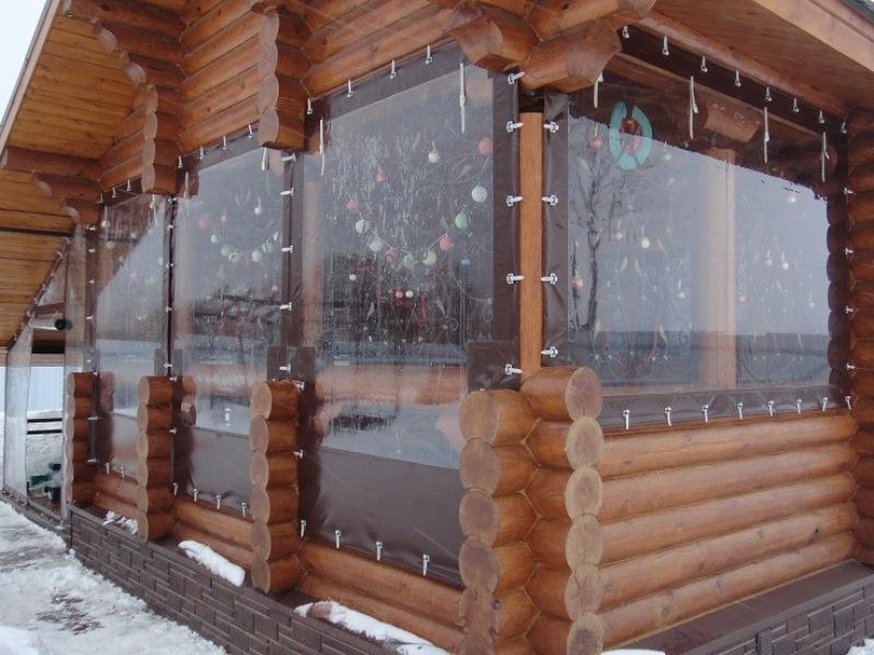 Морозоустойчивые шторы ПВХ