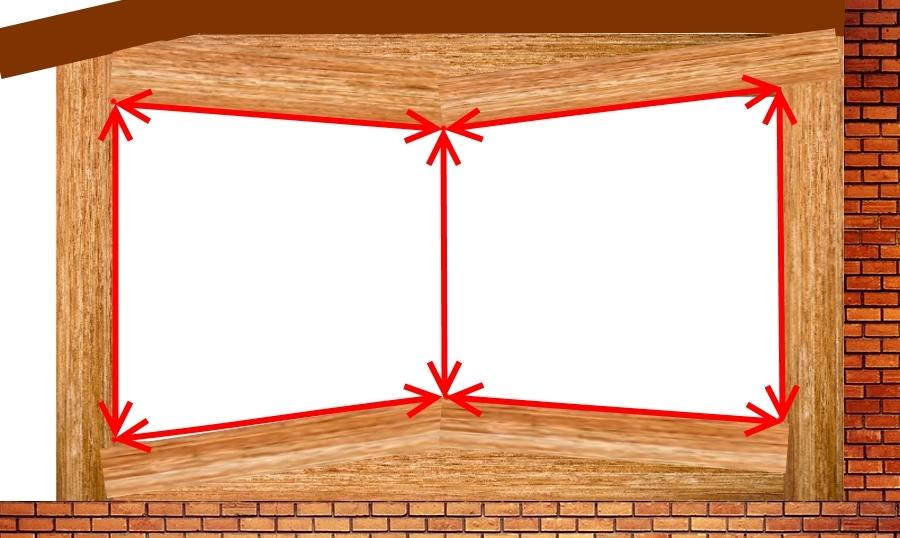 Шаг 3.1. измеряем нестандартный проем