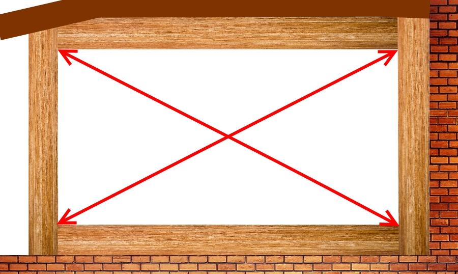 Шаг 4 замеряем диагонали