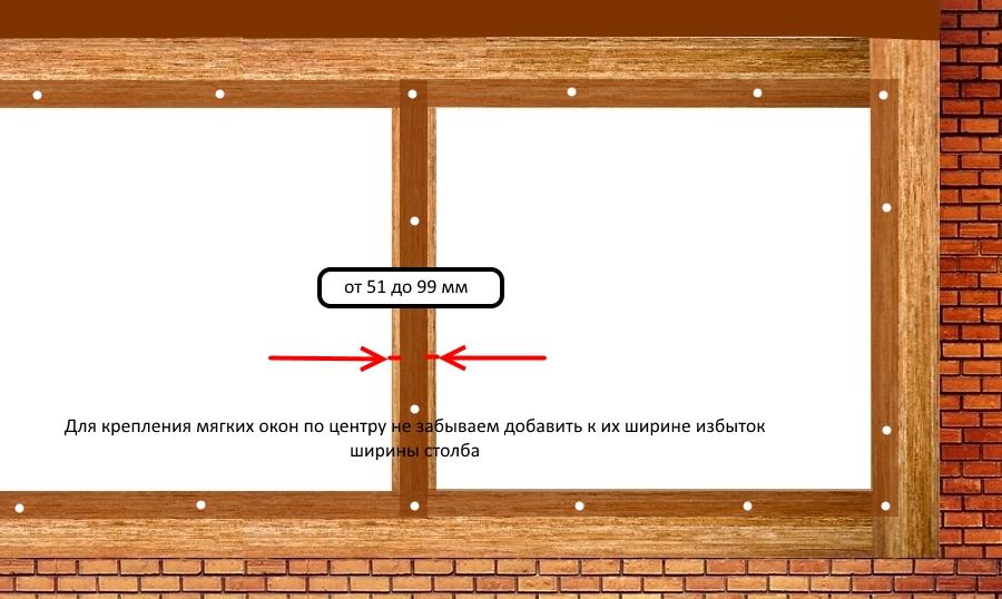 Крепление к основанию шириной от 51 до 99 мм