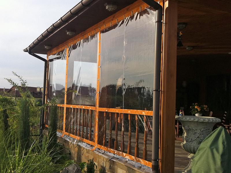 Заполнение проема мягкого окна