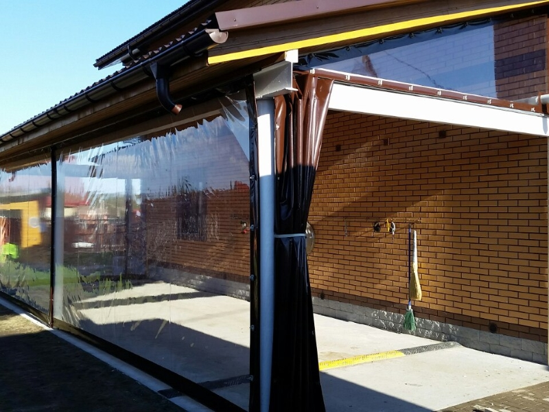 Раздвижные мягкие окна-шторы ПВХ
