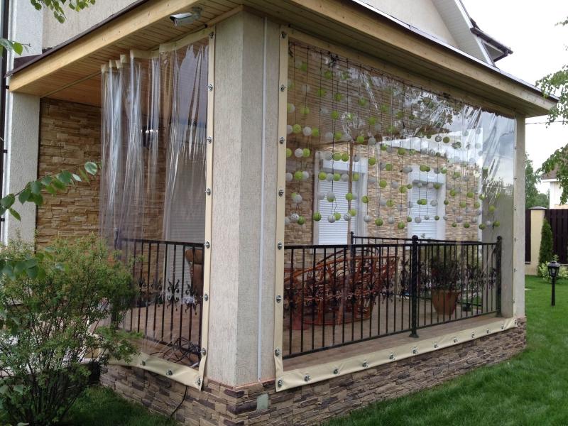 Сдвижные мягкие окна из прозрачного ПВХ