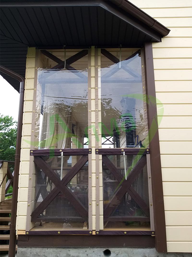 Натяжные окна на беседку