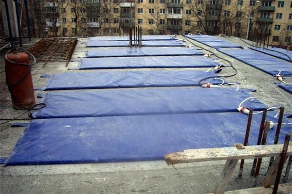 Строительный тент для бетона