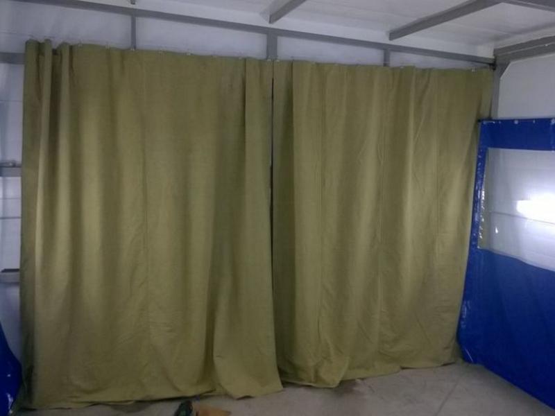 штора брезентовая для склада