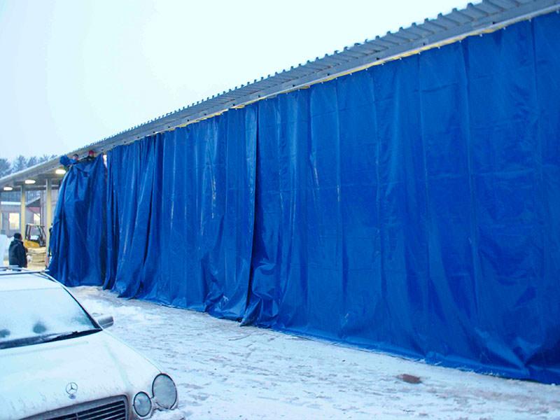 шторы для уличного склада из ПВХ ткани